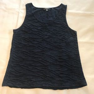 Toad & Co Navy Blue Crinkle Tank Top EUC